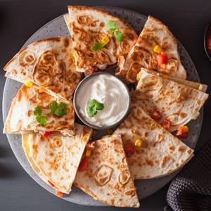 Tostadas mexicanas de pollo al cilantro