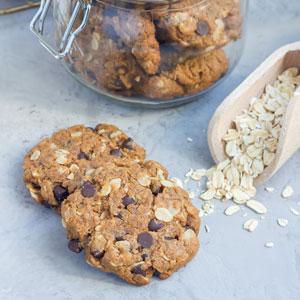 Cookies de avena, plátano y cacao